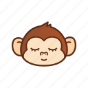 cute, emoticon, expression, funny, monkey, sleep, sleepy icon