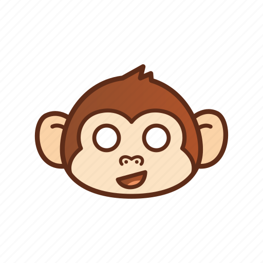 cute, emoticon, expression, funny, monkey, shocked icon