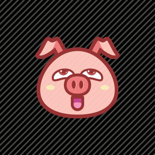 cute, emoticon, expression, pervert, piggy icon