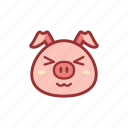 adorable, adore, cute, emoticon, expression, piggy icon