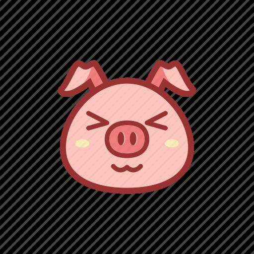 adorable, adore, cute, emoticon, expression, piggy icon