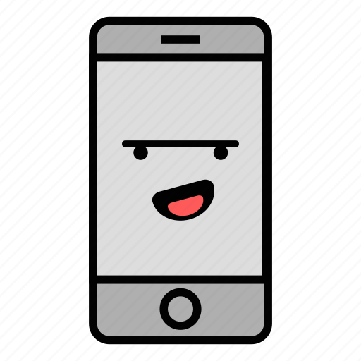 call, cell, emoji, iphone, laugh, mobile, technology icon