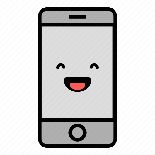 call, cell, emoji, iphone, laughing, mobile, technology icon
