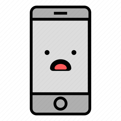call, cell, emoji, iphone, mobile, technology, worried icon