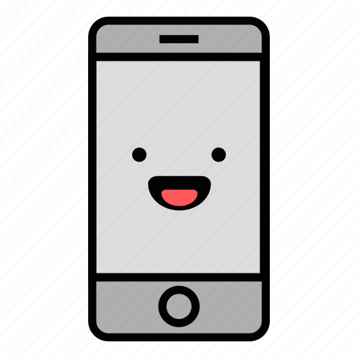call, cell, emoji, happy, iphone, mobile, technology icon