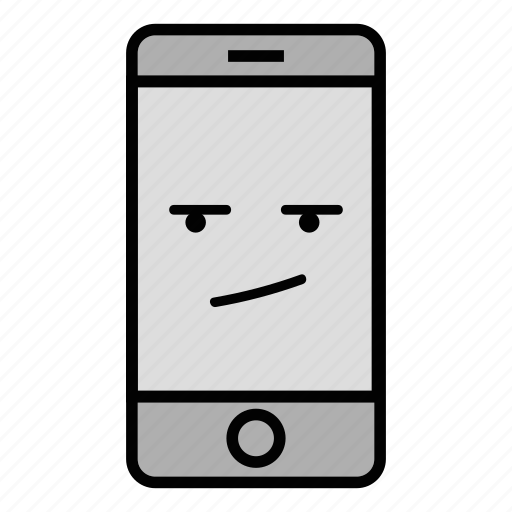bored, call, cell, emoji, iphone, mobile, technology icon