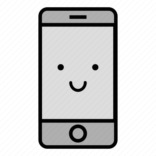 call, cell, emoji, iphone, mobile, smile, technology icon