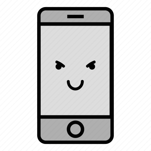 call, cell, emoji, evil, iphone, mobile, technology icon
