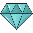 diamond, jewelry, line, set, template icon