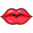 cool, kiss, line, lips, love, set, template icon