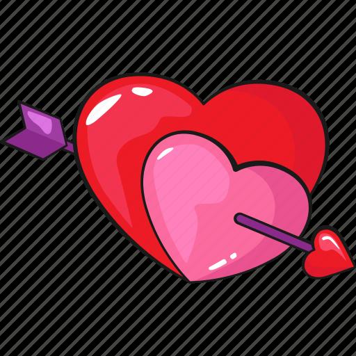 Arrow, heart, line, love, set, template, valentine's icon