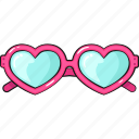 cool, cute, glasses, line, set, template icon