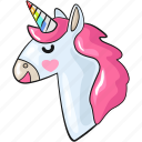 cool, cute, gay, line, set, template, unicorn icon