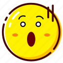 afraid, cute, emoji, emoticon, expression icon