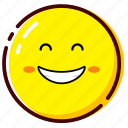 big smile, cute, emoji, emoticon, expression icon