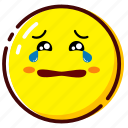 cry, cute, emoji, emoticon, expression icon