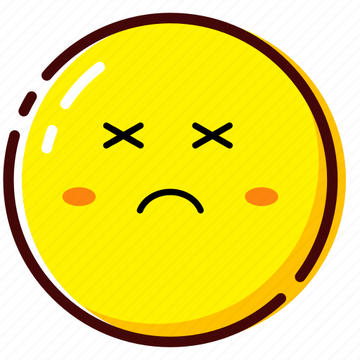 cute, death, emoji, emoticon, expression icon