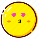 cute, death love, emoji, emoticon, expression, kiss icon