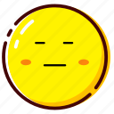 cute, emoji, emoticon, expression, fretful icon