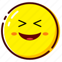 cute, emoji, emoticon, expression, funny, lol icon