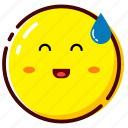 cute, emoji, emoticon, expression, minder icon