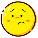 cute, emoji, emoticon, expression, shame icon