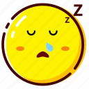 cute, emoji, emoticon, expression, sleep icon