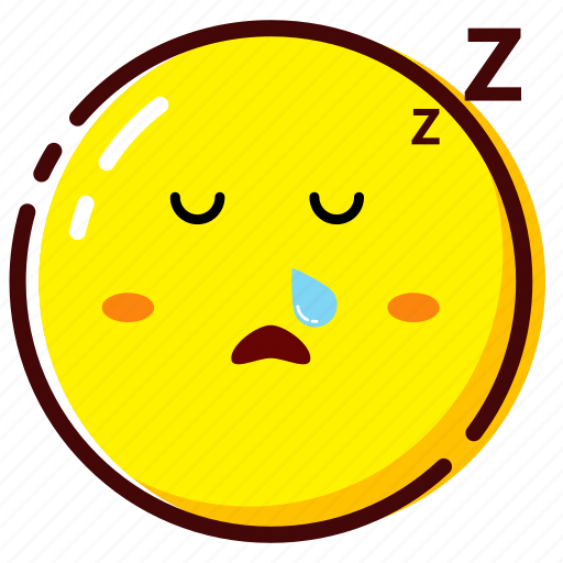 cute, emoji, emoticon, expression, sleep icon
