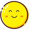 cute, emoji, emoticon, expression, happy, verry happy icon
