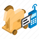 cybercrime, isometric, object, sign icon