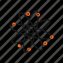 atom, nucleus, science icon