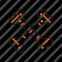 bones, cross, skeleton