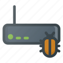 crime, cyber, hacked, hacker, infected, warming, wireless icon