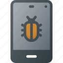 crime, cyber, hacked, hacker, telephone, virused, warming icon