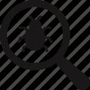 bug finder, bug tracking, unit tracking, scanning icon