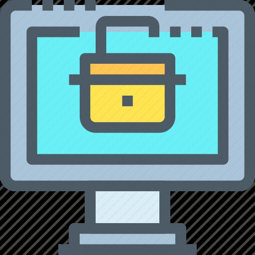 Computer, crime, hack, padlock, secure, security icon - Download on Iconfinder