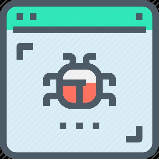 Browser, bug, crime, hack, online, website icon - Download on Iconfinder
