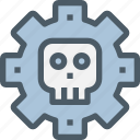 business, crime, gear, hack, process, skull