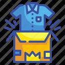 box, product, clothing, shirt, gifting, garment, unboxing icon