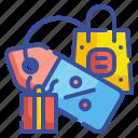 sale, shopping, bag, percentage, label, tag, giftbox