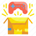 box, product, game, open, controller, gifting, present icon