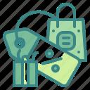 bag, sale, percentage, label, shopping, tag, giftbox