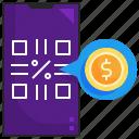 payment, money, qr, code, scan, smartphone