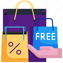 sale, paper, bag, free, hand, shopping