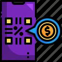 scan, qr, code, smartphone, money, payment
