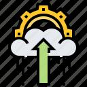 backup, cloud, data, file, upload icon