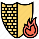 block, firewall, protect, security, shield icon