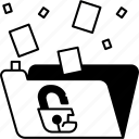data, breach, leak, information, privacy icon