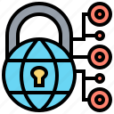 cyber, defense, encryption, network, security icon