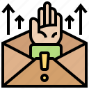 email, fake, junk, letter, spam icon